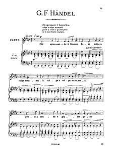 Brockes Passion, HWV 48: Chi sprezzando, medium voice in E Flat Major by Georg Friedrich Händel