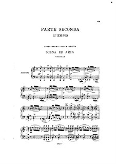 Fragments: Act II No.1, for soloists, choir and piano by Giuseppe Verdi