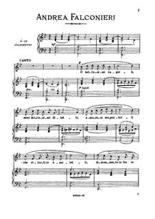 O bellissimi capelli: Medium voice in G Minor by Andrea Falconieri