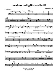 Movement IV: Trombone Bass Clef 2 (Transposed part) by Antonín Dvořák