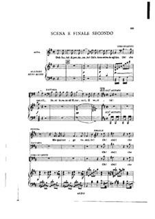 Fragments: Act II No.4, for soloists, choir and piano by Giuseppe Verdi
