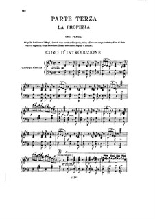 Fragments: Act III No.1, for soloists, choir and piano by Giuseppe Verdi