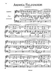 Segui, segui, dolente core: Medium-high voice  in F Major by Andrea Falconieri