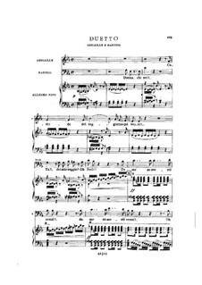 Fragments: Act III No.3, for soloists, choir and piano by Giuseppe Verdi