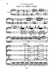 Fragments: Act III No.4, for soloists, choir and piano by Giuseppe Verdi