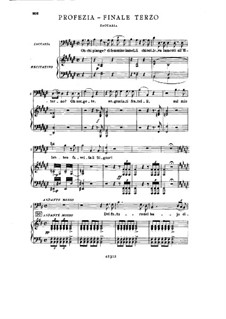 Fragments: Act III No.5, for soloists, choir and piano by Giuseppe Verdi