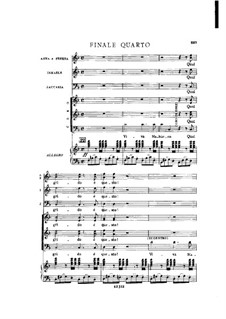 Fragments: Act IV No.3, for soloists, choir and piano by Giuseppe Verdi