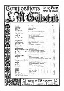 Jeunesse. Mazurka Brillante, Op.70: Para Piano by Louis Moreau Gottschalk