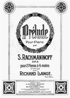 No.2 Prélude: dois pianos de quatro mãos by Sergei Rachmaninoff