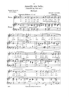 Amarilli, mia bella: G minor (Medium voice) by Giulio Caccini