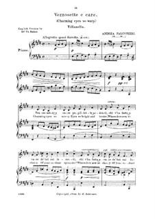Vezzosette e caro pupillette: Medium-low voice in E Major by Andrea Falconieri