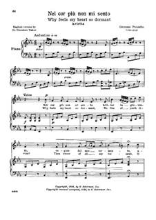 Nel cor più non mi sento, R 1.76: Low voice in E Flat Major by Giovanni Paisiello