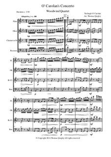 O Carolan's Concerto: Para quarteto de sopro by Turlough O'Carolan