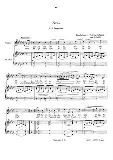 Tre giorni son che Nina: High voice in F Minor by Giovanni Battista Pergolesi
