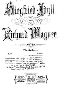 Siegfried Idyll, WWV 103: para piano de quadro mãos by Richard Wagner