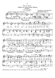 Se tu m'ami, se sospiri: High voice in G Minor by Giovanni Battista Pergolesi