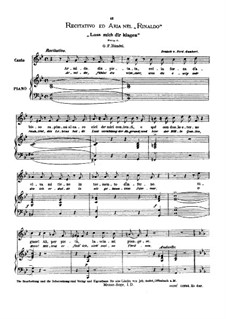 Lascia Ch'io Pianga: Medium voice in E Flat Major by Georg Friedrich Händel