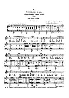 Come raggio di sol: Low voice in D Minor by Antonio Caldara