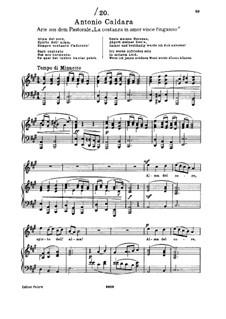 Alma del core: For soprano and piano by Antonio Caldara