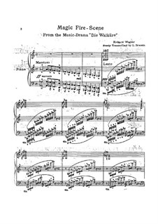 The Valkyrie , WWV 86b: Magic Fire, for piano by Richard Wagner