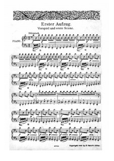 The Valkyrie , WWV 86b: Partitura Piano-vocal by Richard Wagner