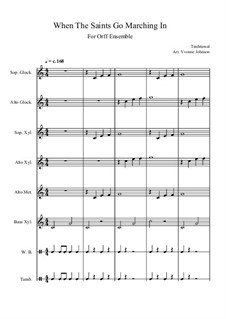 When the Saints Go Marching in: For orff orchestra by folklore
