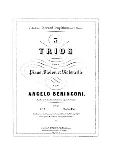 Piano Trio No.2 in G Minor, Op.6: Piano Trio No.2 in G Minor by Angelo Maria Benincori