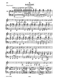 No.5 Aufenthalt (Dwelling Place): para voz media e piano by Franz Schubert