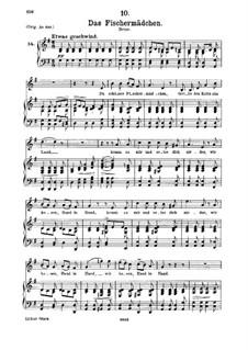 No.10 Das Fischermädchen (The Fisher-Maiden): para voz media e piano by Franz Schubert