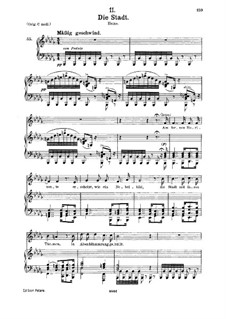 No.11 Die Stadt (The City): para voz media e piano by Franz Schubert