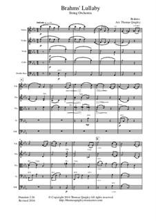 No.4 Cradle Song: para orquetra de cordas by Johannes Brahms
