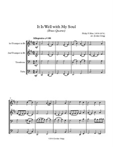 It Is Well with My Soul: para quarteto de bronze by Philip Paul Bliss
