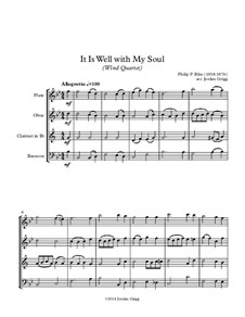 It Is Well with My Soul: Para quarteto de sopro by Philip Paul Bliss