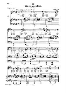 Huntsman's Evening Song, D.368 Op.3 No.4: para voz media e piano by Franz Schubert