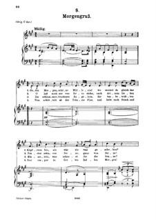 No.8 Morgengruss (Good Morning): para voz media e piano by Franz Schubert