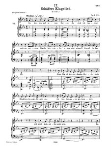 Shepherd's Lament, D.121 Op.3 No.1: para voz media e piano by Franz Schubert