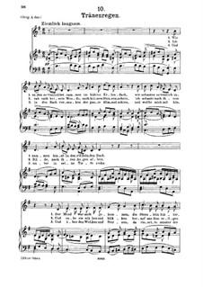 No.10 Thränenregen (Shower of Tears): para voz media e piano by Franz Schubert