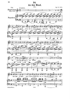 An den Mond (To The Moon), D.193 Op.57 No.3: para voz media e piano by Franz Schubert