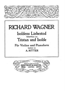 Isolde's Love Death: para violino by Richard Wagner