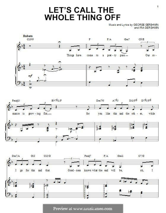 Let's Call the Whole Thing Off: For voice and piano (Ella Fitzgerald) by George Gershwin