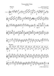 Venezuelan valse: Venezuelan valse, Op.32 No.1 by folklore