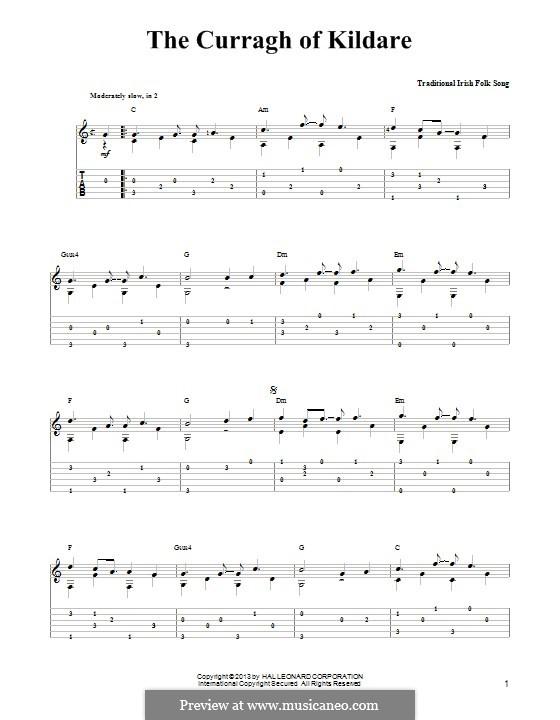 The Curragh of Kildare: Para guitarra com guia by folklore