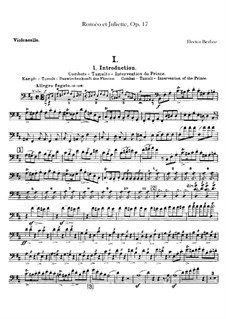 Roméo et Juliette (Romeo and Juliet), H.79 Op.17: Parte Violoncelo by Hector Berlioz