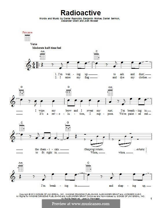 Radioactive (Imagine Dragons): para ukulele by Alexander Grant, Benjamin McKee, Daniel Reynolds, Daniel Sermon, Josh Mosser