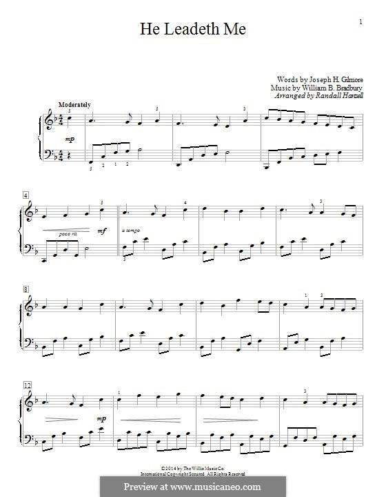 He Leadeth Me: Para Piano by William Batchelder Bradbury