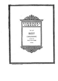 Suite I: para piano de quadro mãos by Georges Bizet