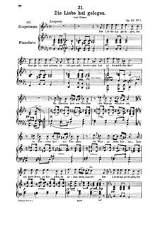 Die Liebe hat gelogen (Love has Lied), D.751 Op.23 No.1: para voz media e piano by Franz Schubert