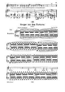 Gruppe aus dem Tartarus (Group from Hades), D.583 Op.24 No.1: para voz media e piano by Franz Schubert