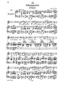 Le berceuse (Slumber Song), D.527 Op.24 No.2: para voz media e piano by Franz Schubert