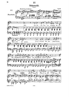 Sehnsucht (Longing), D.636 Op.39: para voz media e piano by Franz Schubert